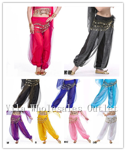 Belly Dance Costume Shinny Bloomers Trousers& Harem Pants 13 Color