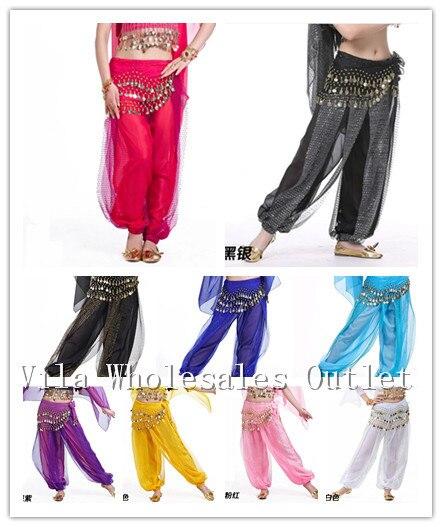 b13480bc1a37 Traje de la danza del vientre pantalones shinny bloomers y Pantalones harem  13 color