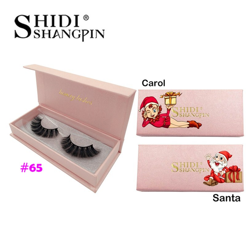 3D Mink Lashes 1 Box False Eyelashes Natural Long Lash Mink Eyelashes Extension Christmas Gift Maquiagem Makeups Faux Cils Cilos