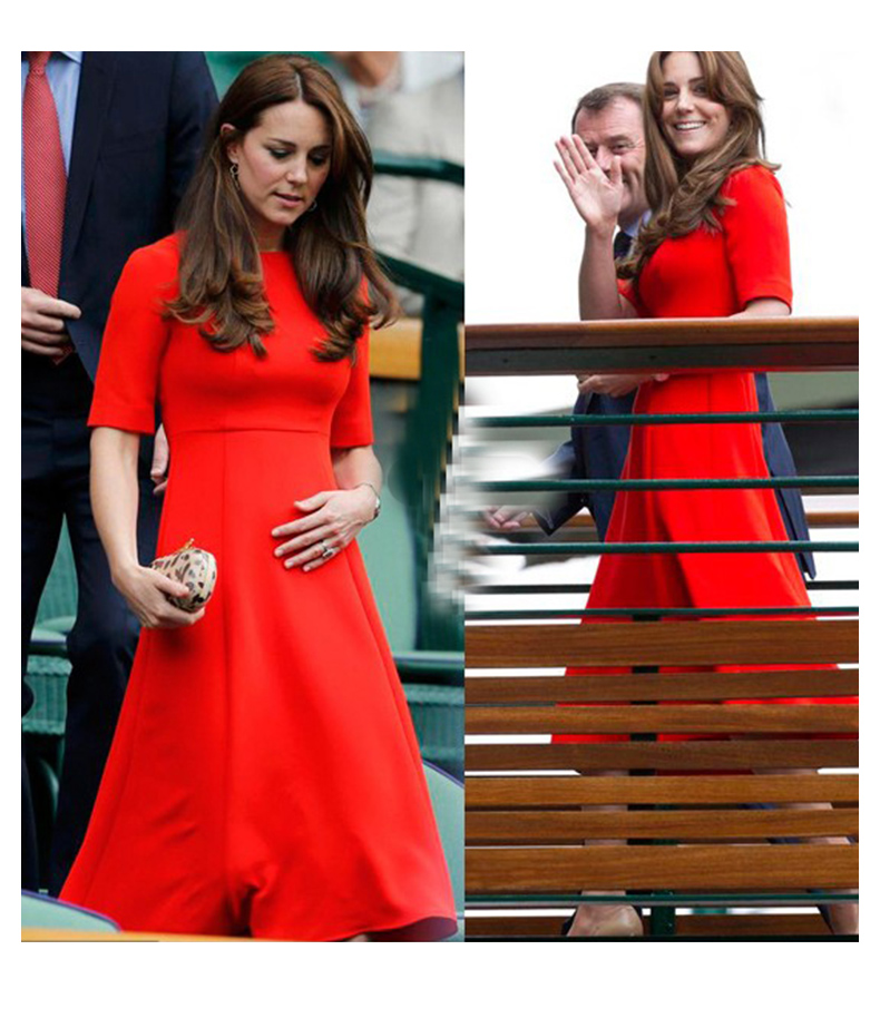 Cocktail Gowns Formal 3/4 Sleeve Sheath Simple Special Occasion Vestido De Madrinha Farsali Kate Middleton Vestido De Casamento