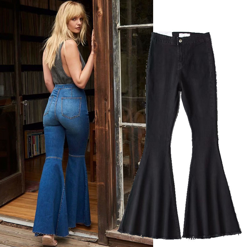 Denim Trousers Woman just float on flare   jeans   high waist   jeans   womens clothing high street