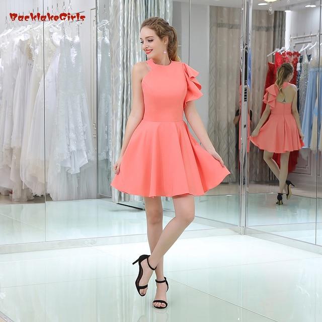 Hot Selling Dresses 2017 One Shoulder Kleid Ruffles Women Dress Prom ...