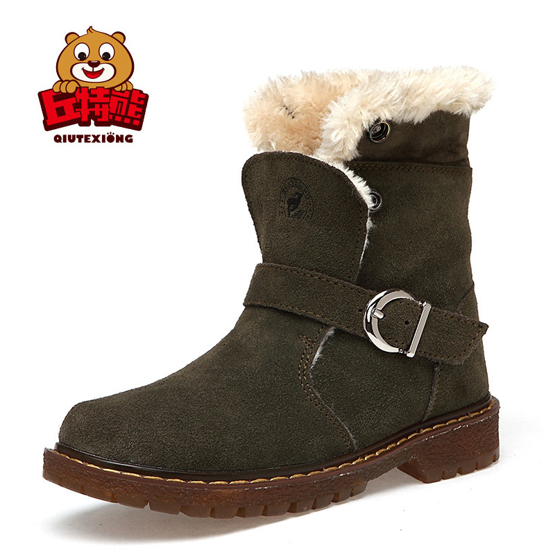 2018 Winter Boots Boy Genuine Leather Children Sneakers