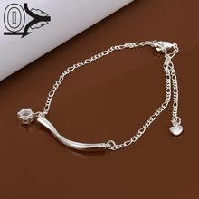 Lose Money!!Wholesale Silver Plated Foot Anklets,Wedding Jewelry Accessories,Inlaid Stone Hanging Single Drill Anklets Bracelet