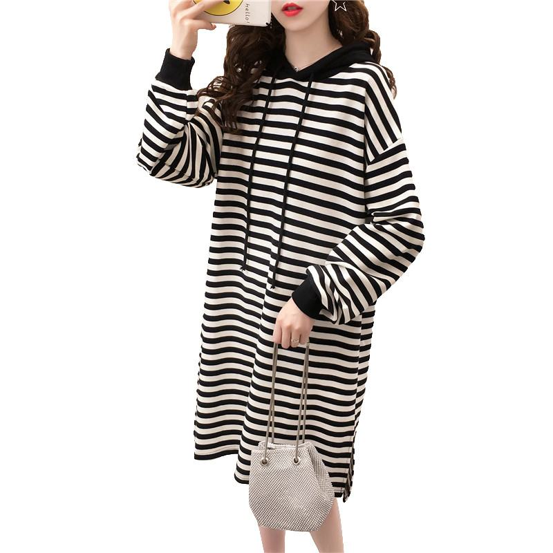 2019 Fashion Pregnant Women Causal Striped Hooded Dress Pregnancy Breast Feeding Clothes Maternity Cotton Nursing Vestido Q5972019 Fashion Pregnant Women Causal Striped Hooded Dress Pregnancy Breast Feeding Clothes Maternity Cotton Nursing Vestido Q597