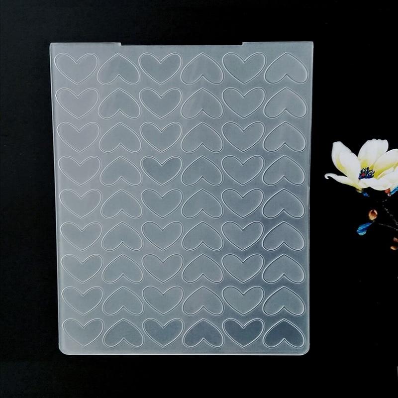 AZSG Heart shape Cloud Butterfly Embossing Plastic Plates Design DIY Paper Cutting Dies Scrapbooking Plastic Embossing Folder in Embossing Folders from Home Garden