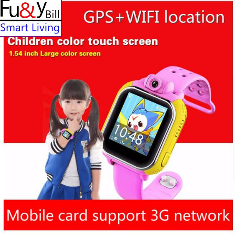 Fu Y Bill Q730 3G Smart Watch Children Wristwatch For IOS Android With Camera GSM GPRS