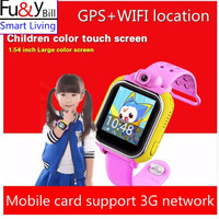 Fu & Y Q730 Bill 3G Inteligentny Zegarek Zegarek Dla IOS Android Dla Dzieci Z WI-FI kamera GSM GPRS GPS PK Q730 Q80 Q90 V7K Q50 Q60