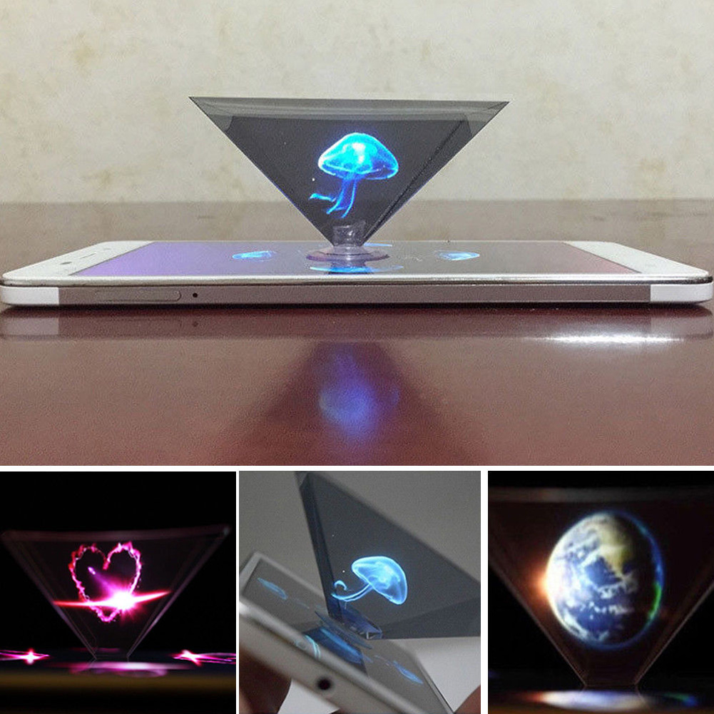 Novel Mobile Phone Screen Projector 3D Holographic Display Projector Pyramid Holographic Display 3D Display Box