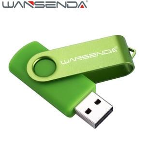 WANSENDA 128GB Rotation USB Flash Drive Metal Pen Drive 16GB 32GB 64GB 256GB Pendrive Flash Drive 4GB 8GB USB 2.0 Memory Stick