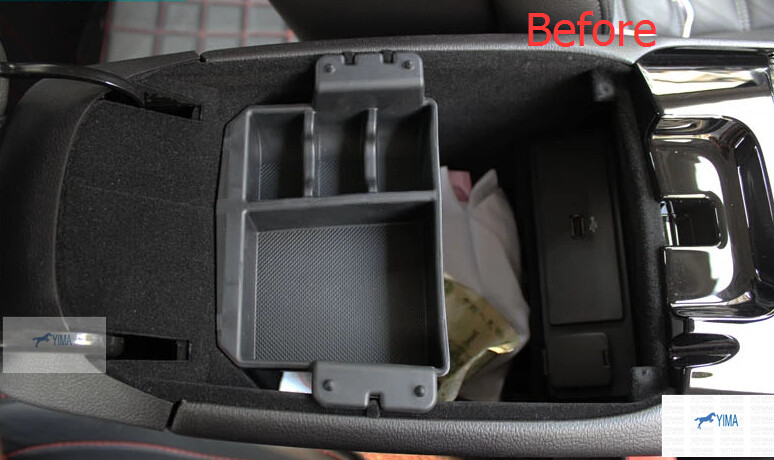 Black Plastic Secondary Storage Central Console Organizer Box Pallet Container Box For Ford Mondeo 2014 2015 / Fusion 2014 2015 какой смартфон в 2014 2015