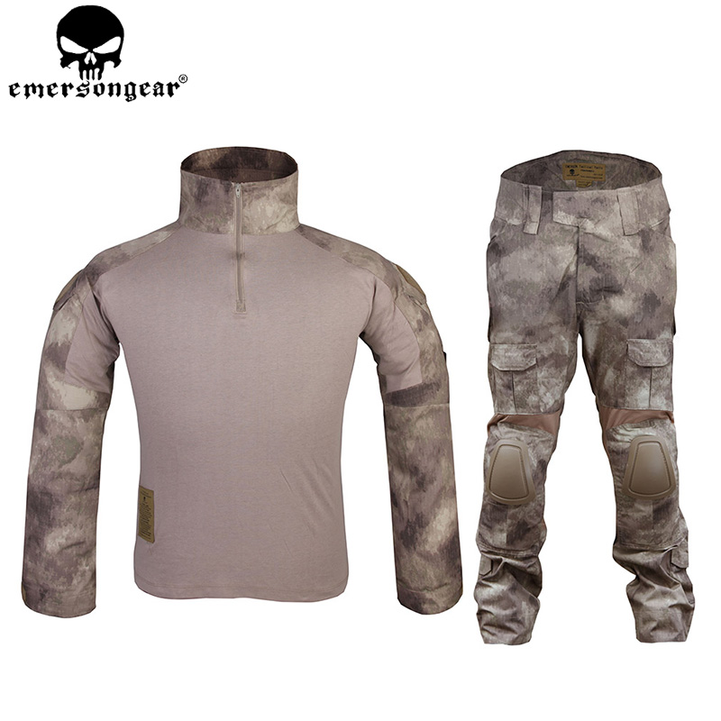 EMERSONGEAR Gen2 BDU Combat Suit Camouflage Uniform Tactical Shirt Pants with Elbow Knee Pads Hunting Clothing Atacs EM6912 ...