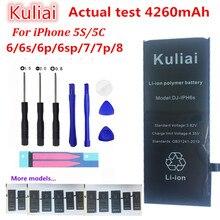 Kuliai Lithium Batterie Für Apple iPhone 6 S 6 6 plus 5 S 5 Ersatz Batterien Interne Telefon Bateria 4260 mAh + Kostenlose Tools