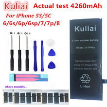 Get more info on the Kuliai  Lithium Battery For Apple iPhone 6S 6 6 plus  5S 5 Replacement Batteries Internal Phone Bateria 4260mAh + Free Tools