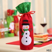 Santa Claus Wine Bottle Cover 1 Pc Christmas Decorations