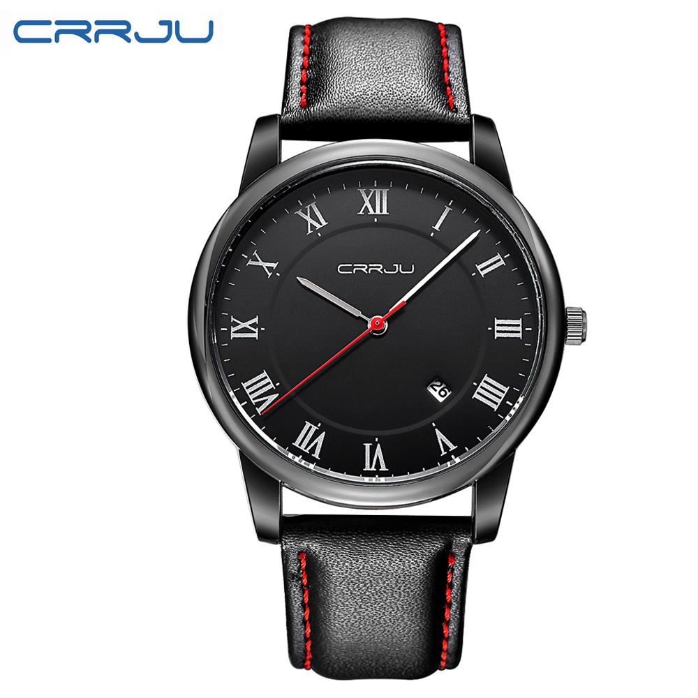 2016 New Arrival Men Casual Fashion Watches Luxury Top Brand Men s Quartz Watches Leather Strap