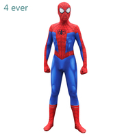 Halloween Costume Spider Man Into The Spider Verse Peter Parke Costume Zentai Spiderman Suit Superhero Pattern Bodysuit