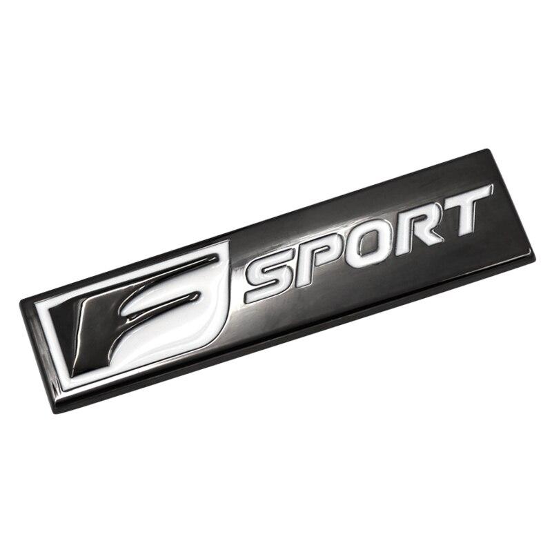 NEW 1Pcs F Sport Fsport Metal Emblem Badge Car Stickers rear Trunk Decals For Lexus RX ES IS IS200 IS300 RX330 RX350 Car Styling