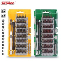 Hi-Spec 60 in 1 Screwdriver Set Mini Precision Torx Bit Multitool Repair Hand Tool Kit for Phone Electronics PC