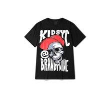 PP 2016 marée marque nouveaux hommes de mode d'été casual T-shirt crâne graffiti planche à roulettes mince t-shirt t-shirt(China (Mainland))