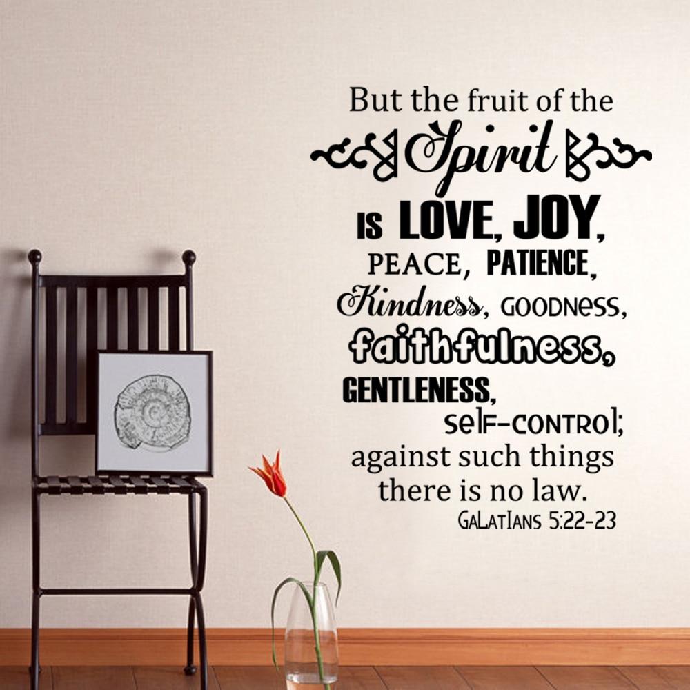 The Fruits Of The Spirit Galatians 5 22 23 Scripture Vinyl