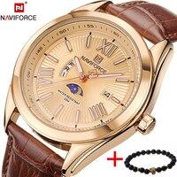 2017 New Top Luxury Brand NAVIFORCE Men Quartz Wristwatch Fashion Mens Watches Waterproof Male Sport Clock