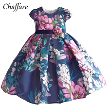 ФОТО chaffare girls dress baby floral fancy frocks 2018 elegant summer clothing princess wedding party dresses for kids 2 to 8 years
