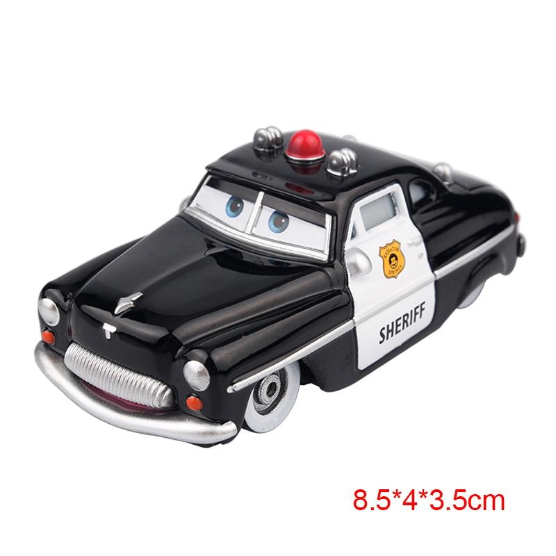 Дисней Pixar Тачки 2 3 Молния Маккуин матер Джексон шторм Рамирез 1:55 литье под давлением автомобиль металлический сплав мальчик малыш игрушки Рождественский подарок - Цвет: Sheriff