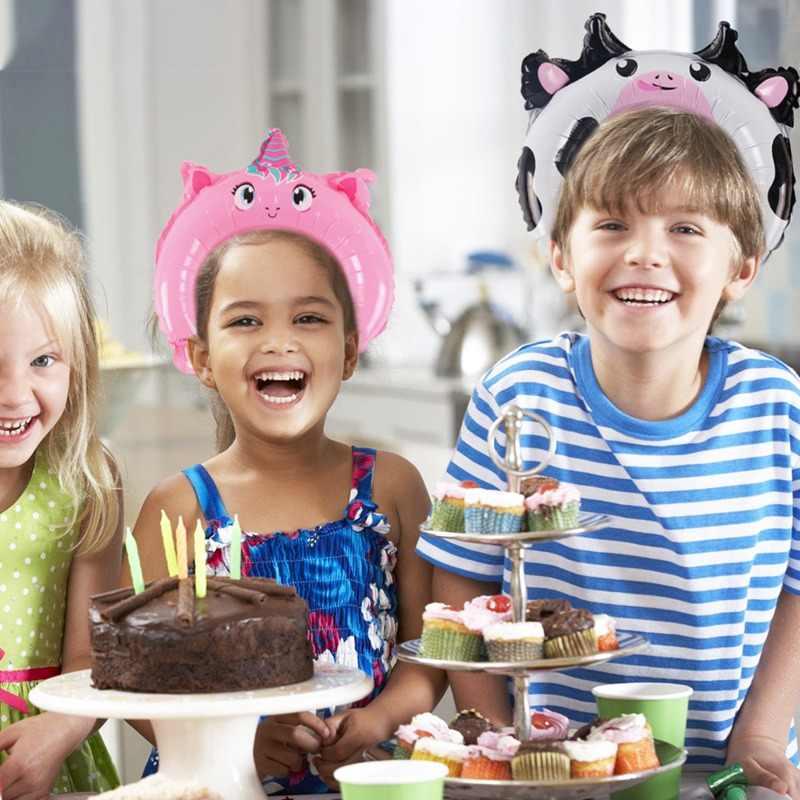 10 sztuk Cartoon zwierząt balony z folii aluminiowej dzieci dżungli impreza w stylu safari dekoracji urodziny uroczy balon pałąk sprzyja