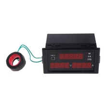 цены Digital Power Meter AC Voltmeter Ammeter AC 80-300V 0-100A Voltage Current Meter with Transformer