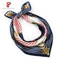 100% lenço de Cetim De Seda Quadrado Cachecol feminino Mulheres Lenço no pescoço Lenço bandana de Cabelo Marca de Luxo Scarve Envoltório Cachecol hijab
