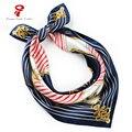 Bufanda de Seda 100% Bufanda Cuadrada de Raso cuello femenino Scarve Bufanda Mujeres Pañuelo bandana Pelo de la Marca de Lujo Abrigo de La Bufanda Del hijab