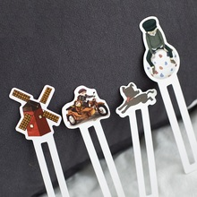 6 set/Lot Dream boy bookmarks for books Japanese luminous theatre book marker School supplies separador de libros FC484