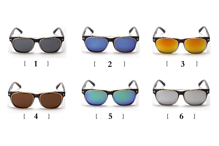 f1fcc0f2606 Cool Clip On Sunglasses Tom Men 2015 New Fashion Vintage Mirror Glasses  Ford Women Brand Designer Steampunk Gafas de sol Points-in Sunglasses from  Apparel ...