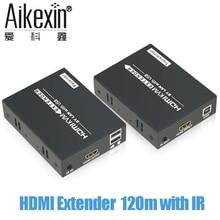Aikexin 120 m HDMI Extender Sobre IP TCP CAT5e/6 Rj45 LAN Cabo Ethernet Suporte 1080 P com RI 120 m HDMI Transmissor Receptor