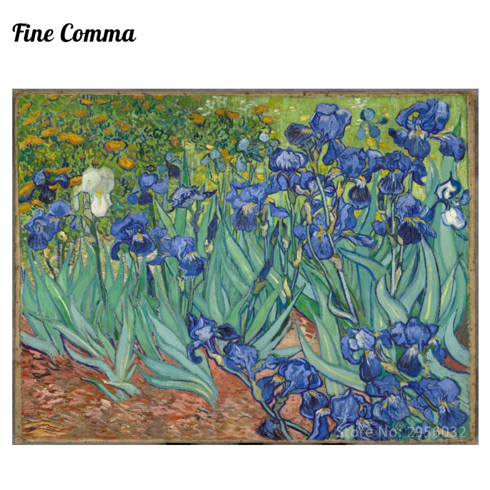 Irises Les Iris 1889 by Vincent van Gogh Hand painted Oil Painting Reproduction Replica Wall Art Canvas Painting Repro Copy HomeIrises Les Iris 1889 by Vincent van Gogh Hand painted Oil Painting Reproduction Replica Wall Art Canvas Painting Repro Copy Home