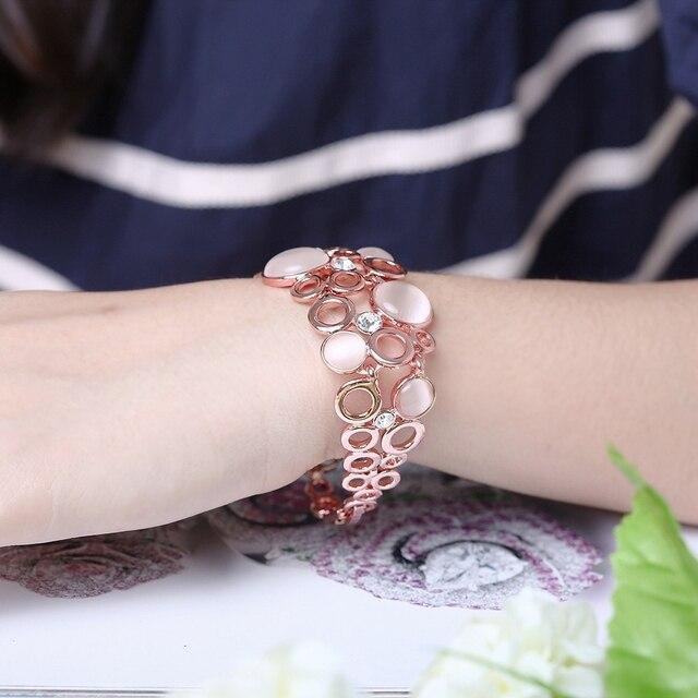 Alulu модный браслет с опалом Женский позолоченный инкрустацией