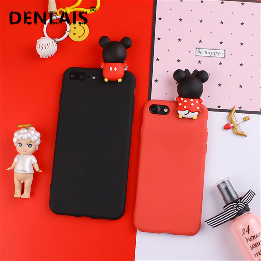 Candy Color Silicone Cartoon Case Cute Mickey Minnie Kitty Duck Soft Phone Case For Sams ...