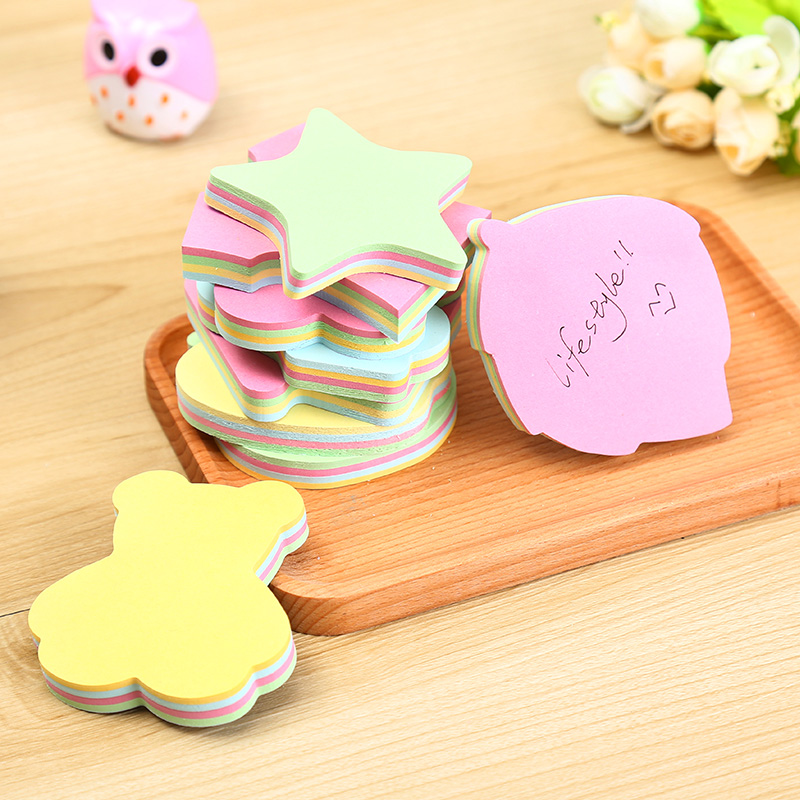 Leaves Abnormity Student Paste Memo Pad Planner Sticky Note Paper Sticker Kawaii Stationery Pepalaria Office School Supplies