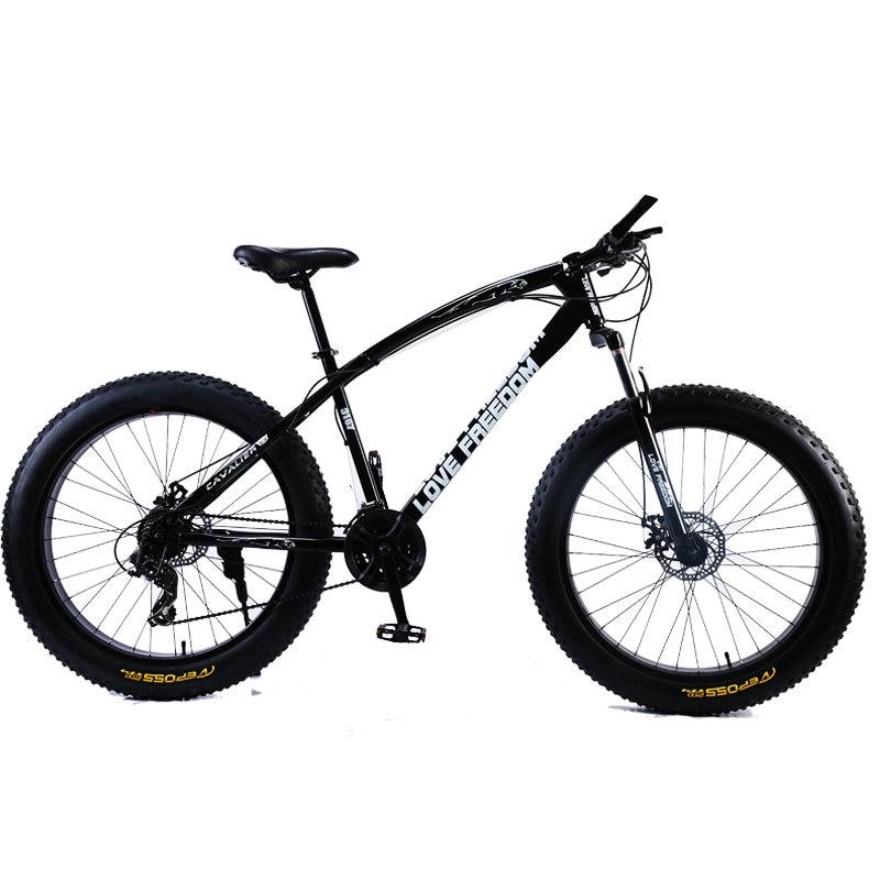 Love Freedom Hot Sale 7 21 24 27 Speed Snow Bike 26 inch 4 0 Fat Love Freedom  Hot Sale 7/21/24/27 Speed Snow Bike 26-inch 4.0 Fat Bicycle Mechanical disc brake Mountain Bike Free Delivery