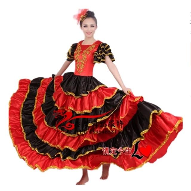 be9624b98973 Women Flamenco Dance Dress Adult Paso Doble Dance Dress Flamenco Costume  Girl Flamenco Dresses