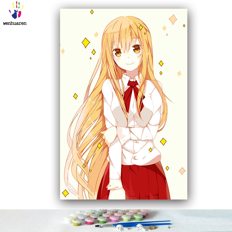 Paint By Number Diy Colorings Pictures By Numbers With Colors Gintama Japanese Manga Picture Drawing Painting By Numbers Framed Home