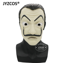 JYZCOS La Casa De Papel Salvador Dali Mask Halloween Costume for Men Carnival Cosplay Adult Masks Props Face