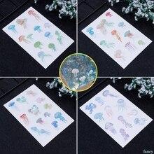 Photo-Album Sticker Epoxy-Resin Crafts Jellyfish Jewelry-Making-Filling Diy-Materials