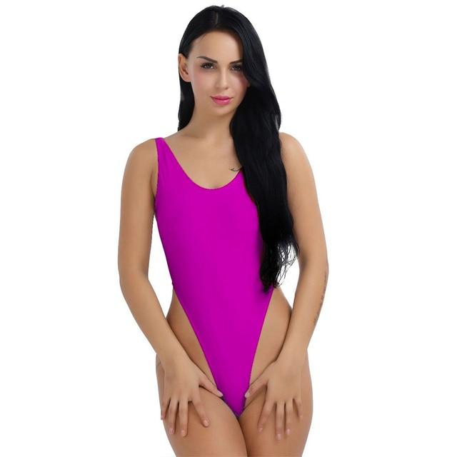 775cc0a594b Sexy Womens Ladie Swimming One-Piece Push Up Bikini Swimwear Monokini High  Cut Backless Leotard Thong Bodysuit Monokini Swimsuit