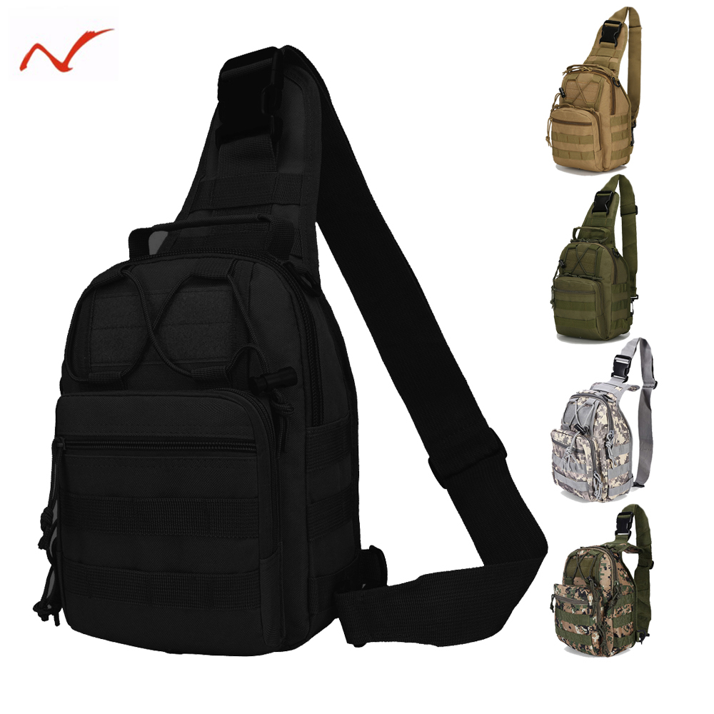 Molle Outdoor Shoulder Military Camping Hiking Bag Tactical Backpack 600D Oxford Camping Trekking Travel Hunting Chest Bag