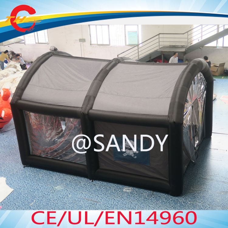 free air shipping to door,5x4m6x4m cheap portable inflatable car tentinflatable spray paint booth