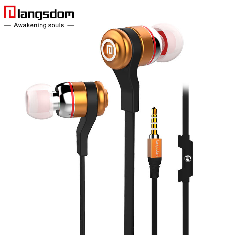 Langsdom A9 In-ear Super Bass Earphone Metal Stereo Headsets Eaphones Sport Running Earbuds Handfree With Mic for xiaomi