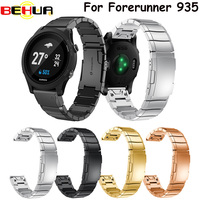 Watch Band 22mm Accessories Stainless Steel Quick Release Watch Bands Straps For Garmin Forerunner 935 Watchband