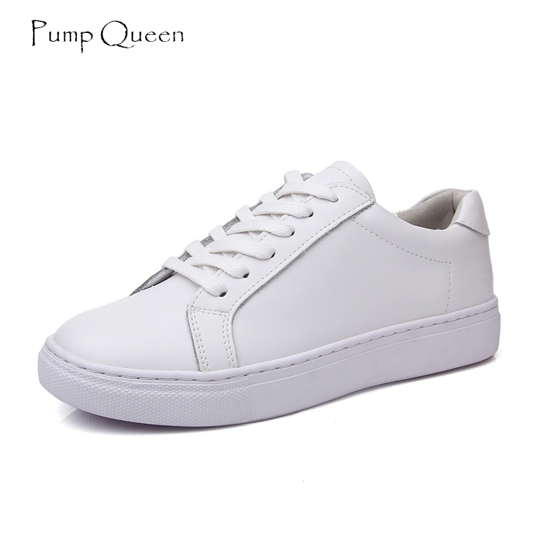 White Casual Women Flats Split Leather Shallow Lace-Up Solid Basic Women Shoes New 2018 Spring Autumn Round Toe Zapatos Mujer new shallow slip on women loafers flats round toe fishermen shoes female good leather lazy flat women casual shoes zapatos mujer